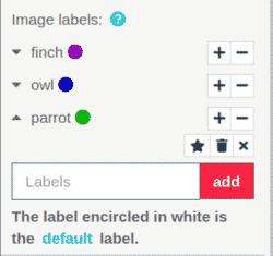 Label images