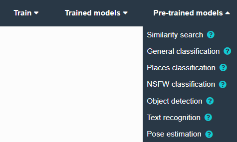 Pre-trained models