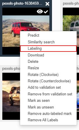 Right click label - od
